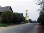 Halšany.  Road chapel