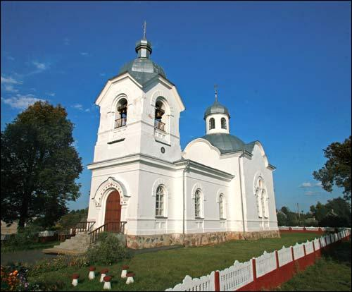 Lušnieva. Orthodox church of the Assumption
