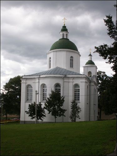 Połack. Orthodox church of the Epiphany and the monastery