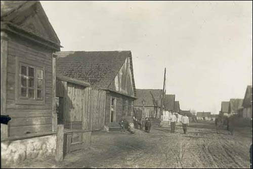 Bycień.  Old photos of the township