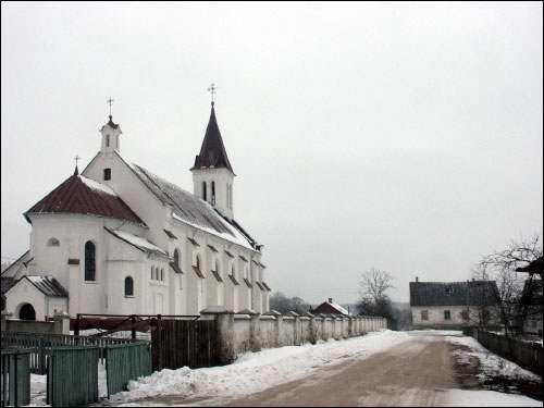 Kosava. Catholic church of the Holy Trinity