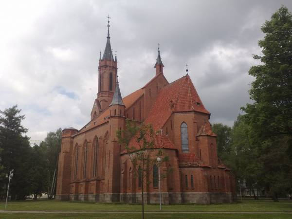 Druskininkai. Catholic church of Mother of God of the Scapular