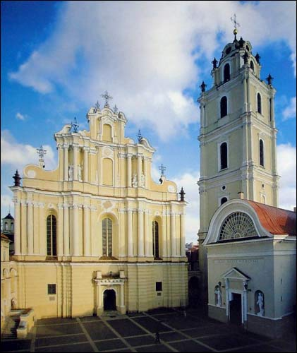 Vilnius. Catholic church of St. John the Baptist and St. Jonh the Apostle and Evangelist