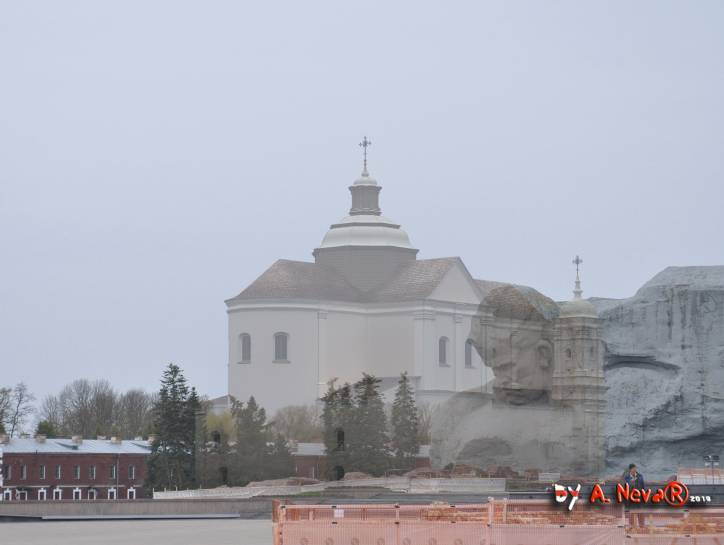 - Catholic church of Our Lord Jesus and St. Casimir and the Jesuit college. Берасце. Графiчная рэканструкцыя касцёла Пана Езуса i Св. Казiмiра калегii езуiтаў