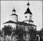 Lachavičy.  Catholic church of the Exaltation of the Holy Cross