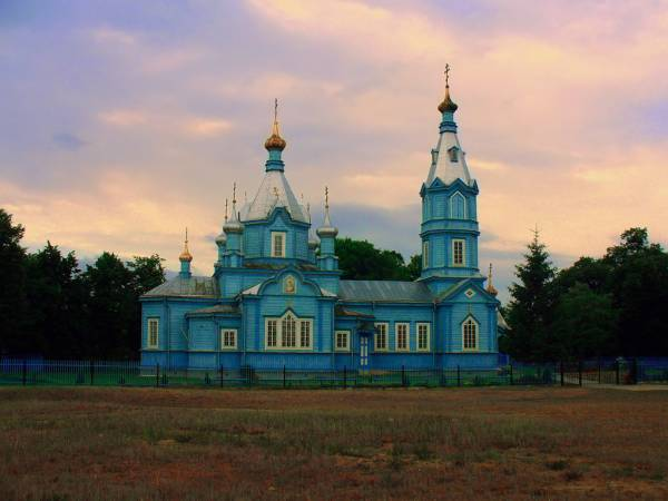 Paviccie. Orthodox church of the Birth of the Virgin