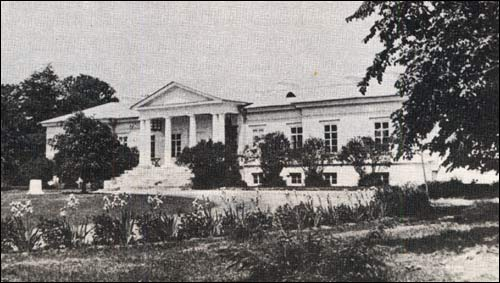 - Estate of Chludziński. View at the front of estate, before 1914