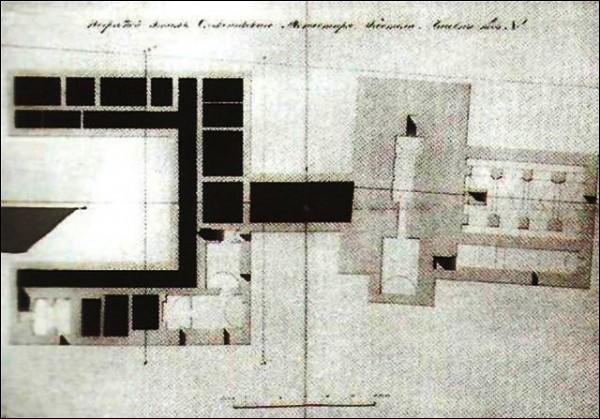 - Catholic church of Blessed Virgin Mary and the Monastery of Franciscan. Plan of the basement, 1835