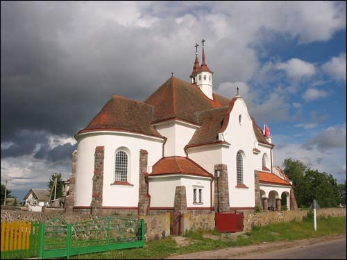 Soły. Catholic church of Mother of God of the Rosary