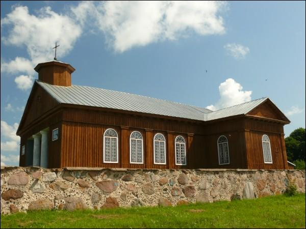 Žyrmuny.  Catholic church of the Discovery of the Holy Cross