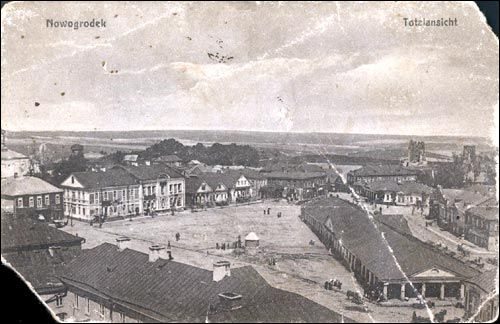 Navahrudak. Old postcards with town views