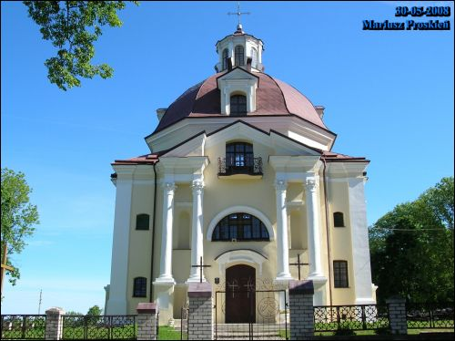 Miadzieł. Catholic church of Mother of God of the Scapular and the Monastery of Carmelite