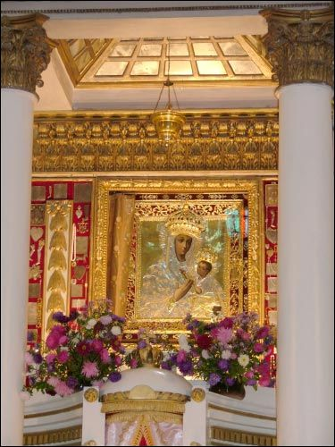 Budsłaŭ. Catholic church of the Assumption of the Blessed Virgin Mary Icon of St. Mary of Budslau
