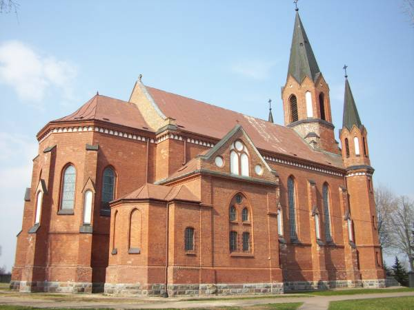 Janówka.  Catholic church of the Annunciation of the Blessed Virgin Mary