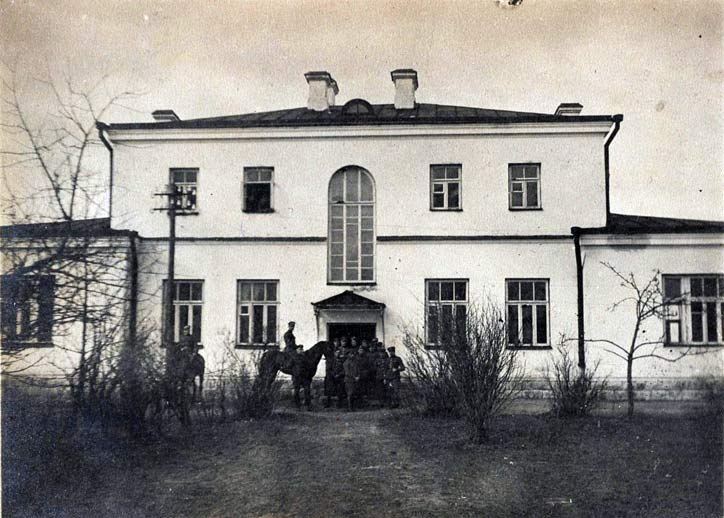Damanavičy.  The school building