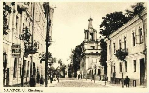 Białystok. Town at the old photos