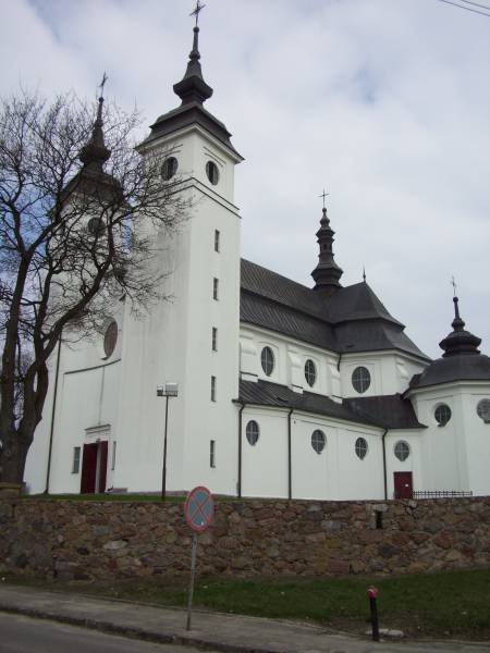 Goniądz. Catholic church of St. Agnes