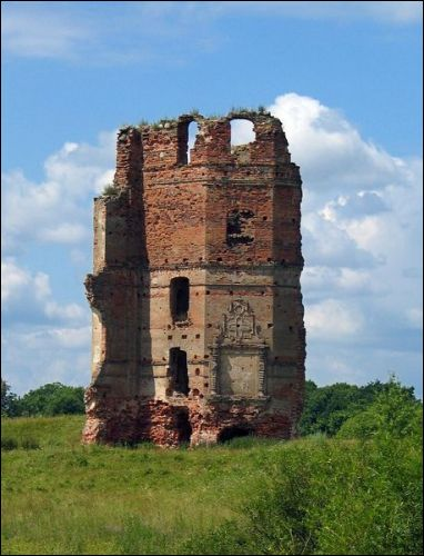 -  White Kovel Castle, ruins. Ruins of the castle in Smalany