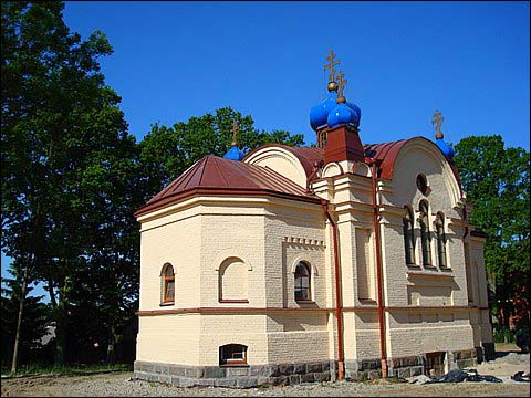 Bukiškis.  Orthodox church of the Protection of the Holy Virgin