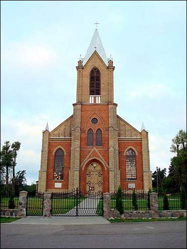 Parudaminys. Catholic church of the Transfiguration of the Lord
