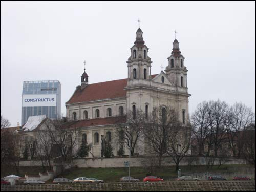 Vilnius. Catholic church of St. Raphael and the Monastery of Jesuits