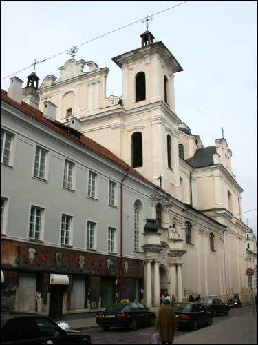 Vilnius. Catholic church of the Holy Spirit and the Dominican Monastery
