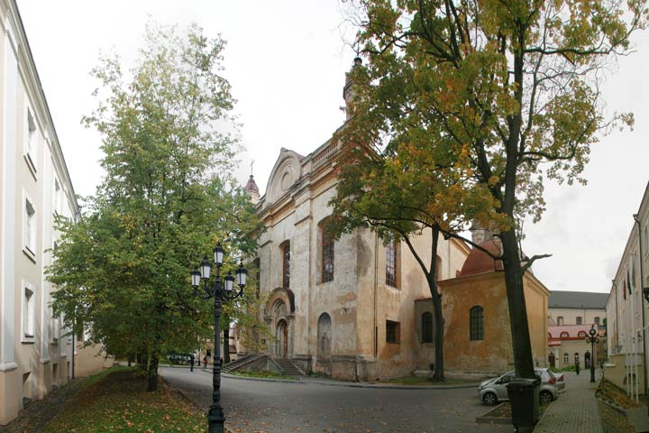 Vilnius. Orthodox church of the Holy Trinity and the monastery of Basilians (Uniate)