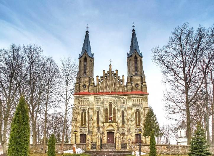 Krynki. Catholic church of St. Anne