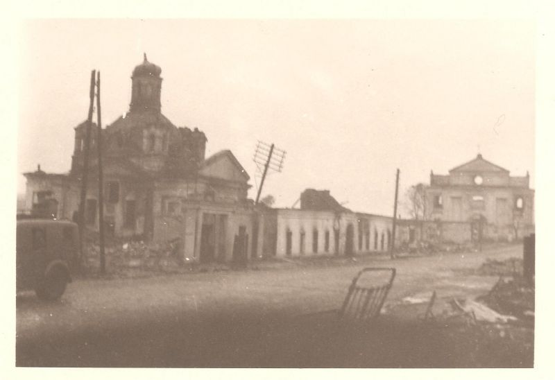 Orša.  Town photos from WWII period